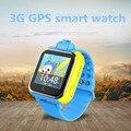 Smart watch gps gsm sos criança anti-perdido 3g smart watch para android iphone com câmera tela grande hd smartwatch para a segurança das crianças