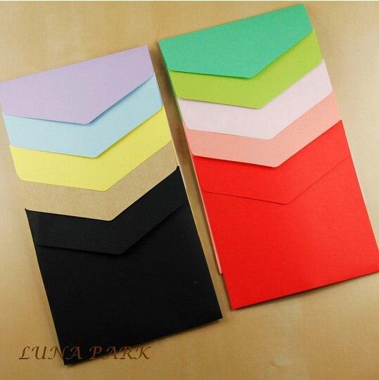 Vintage Multicolor 11 Colors Size 16x16cm Ordinary Invitation Paper Decorative Wedding Envelope Papel /100pcs/set/Wholesale