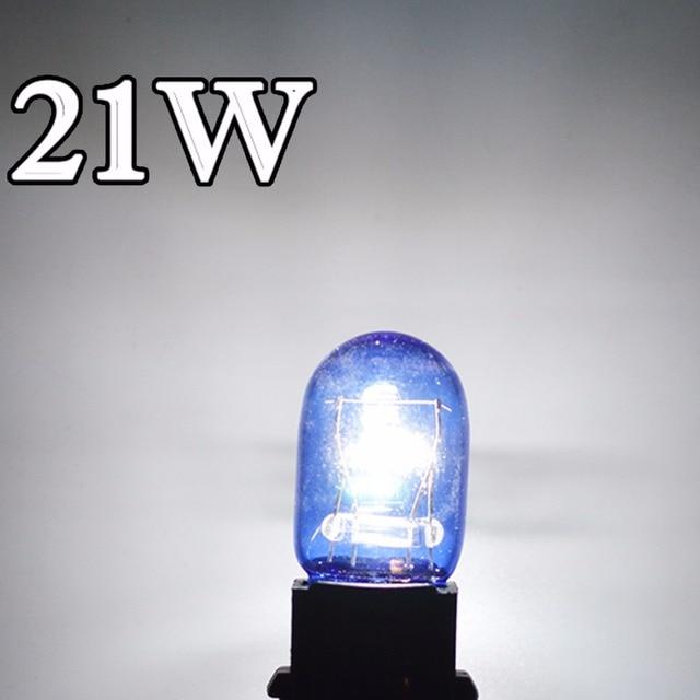 flytop 2 Pieces Lot 580 7443 W21 5W XENON Super White T20 Natural Blue Glass 12V