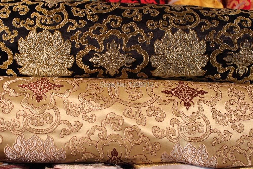 Chinese Silk Brocade Fabric Cheongsam Cushion Qipao Classic FuGui Unique Chinese Fabric Patterns