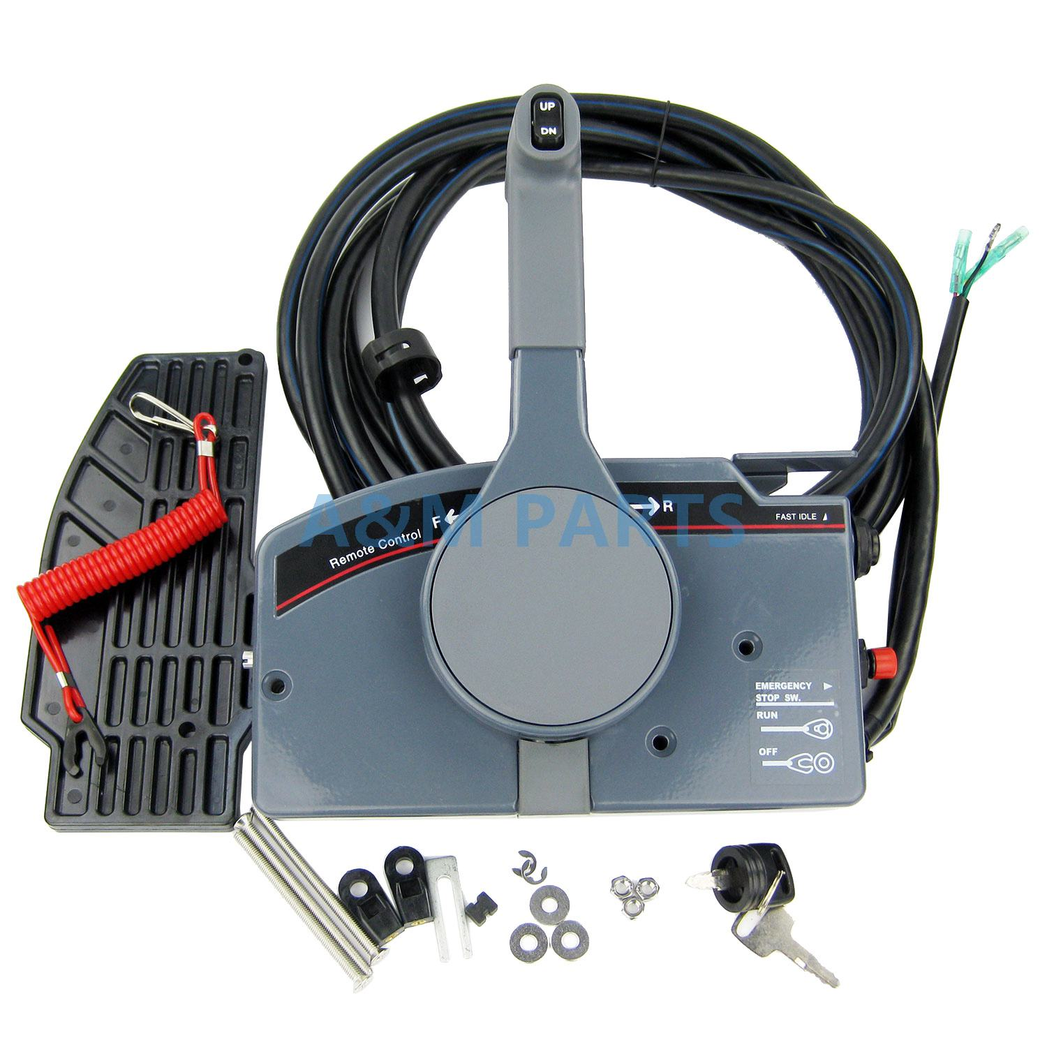 Outboard Remote Control Box for Yamaha Boat Engine With 10Pin Cable Trim Tilt Up Down Right Hand PUSH Throttle