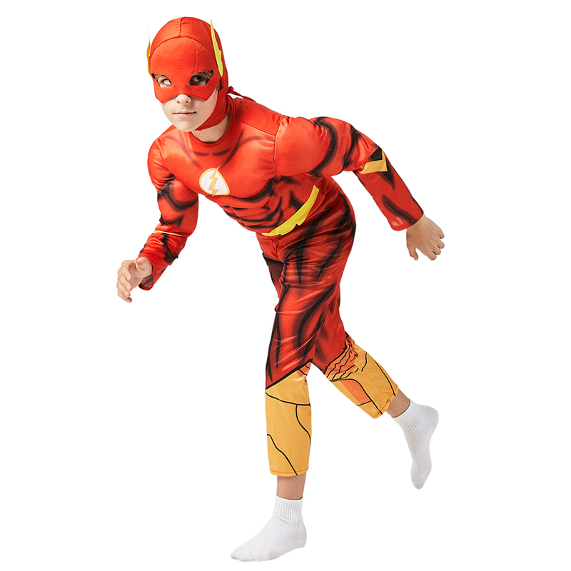 Super Cool 3D Printing Boys The Flash Muscle Fancy-Dress Child Kids Superhero Halloween Carnival Party Cosplay Costumes