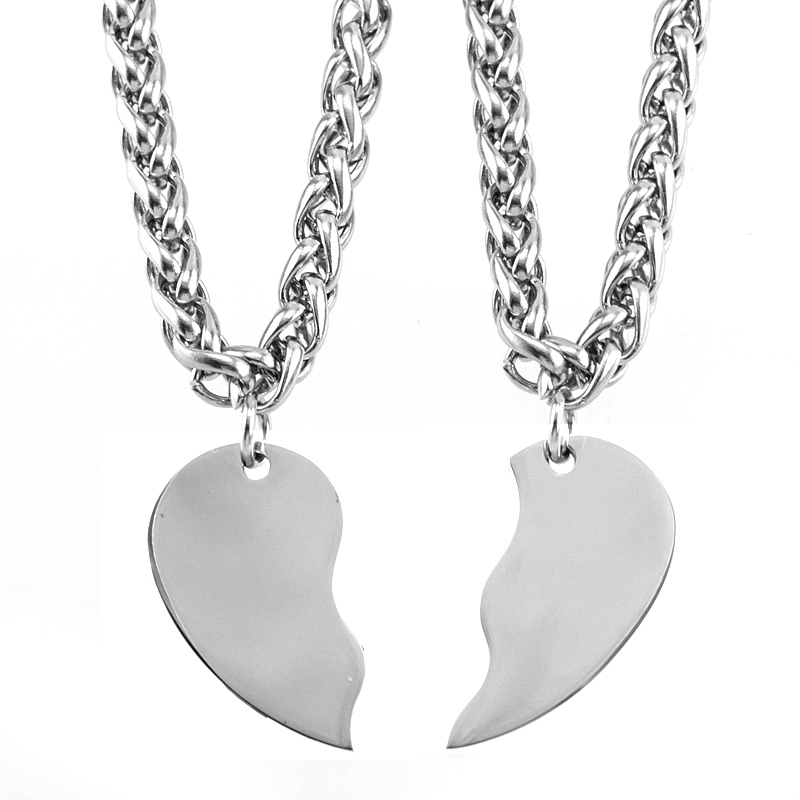 3478c097bc Buy split heart pendant and get free shipping on AliExpress.com