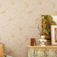 American Retro Pastoral Flowers Papel De Parede 3D Damask Wallpaper For Living Room Modern Luxury Wall