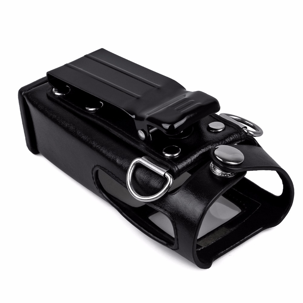 For Hytera Radio Accessories New Leather Carrying Case For Digital Hytera Two Way Radio PD780 PD785 Walkie Talkie Leather Case