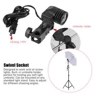 Image 3 - Andoer צילום סטודיו ערכת עם רך מטריית Softbox הנורה בעל אור הנורה מסתובב שקע רקע אור Stand תפאורות