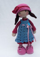 Crochet for doll gift baby shower Rattle toy