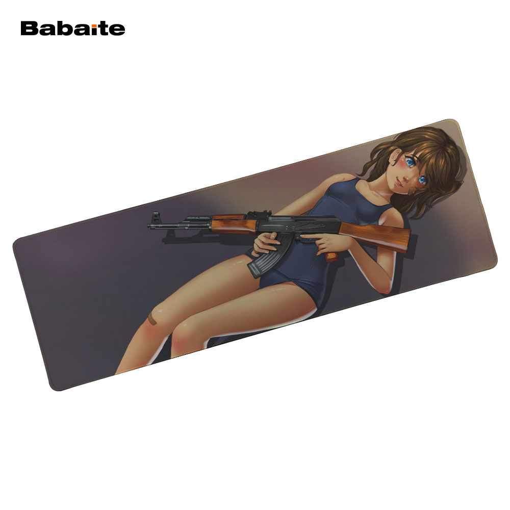 DIY Case Store Babaite Store 900*300MM Anime girl Mouse pad Locking Edge Mouse Mat Keyboard Mat Desk Pad For CS Dota 2 Lol