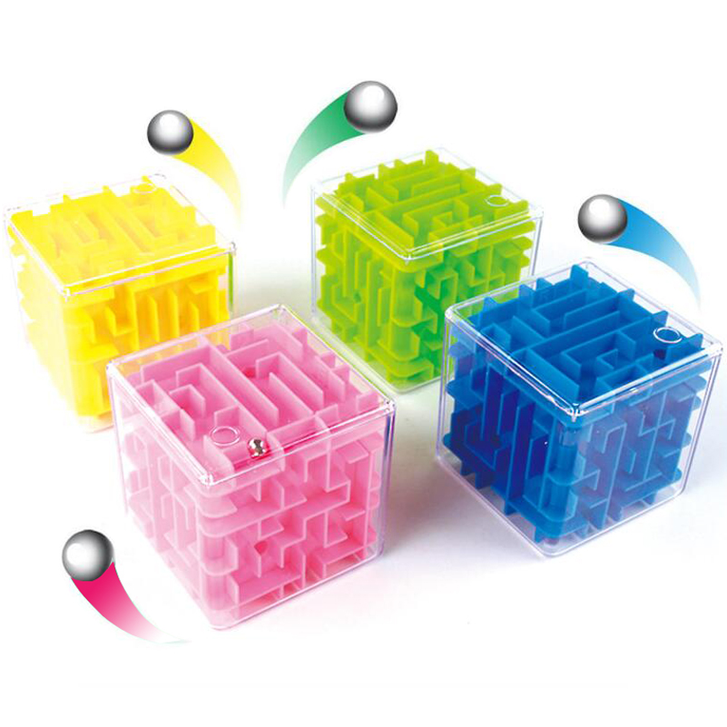 4 Colors / Maze Magic Cube Puzzle 3D Mini Speed Cube Labyrinth Rolling Ball Puzzle Game Cubos Magicos Learning Toys For Chilren magic cube magique cubos magicos puzzles magic square anti stress toys inhalation for children toys children mini 70k560