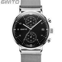 GIMTO Brand Men Sport Watch Steel Luxury Clock Waterproof Male Military Quartz Watches Shock Creative Wristwatch