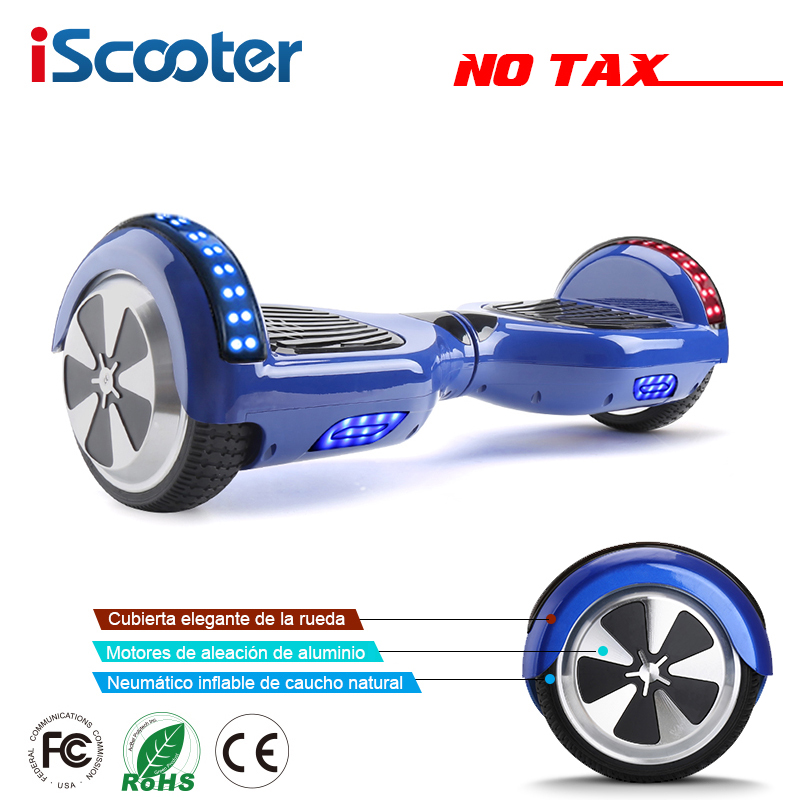 iScooter 6.5 inch 2 Wheels Smart Electric Hoverboards with Bluetooth Speaker LED Light Carrying Bag Self Balance Scooter UL2272 iscooter hoverboards 6 5 inch self balance kick gyroscope electric skateboard oxboard electric hoverboard two wheels hover board