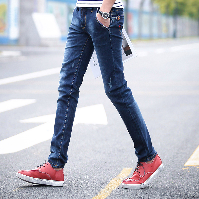 Teen Men's Blue Jeans Small Elasticity Soft Denim Trousers Male Slim Fit  Size 27 36-in Jeans from Men's Clothing on Aliexpress.com | Alibaba Group