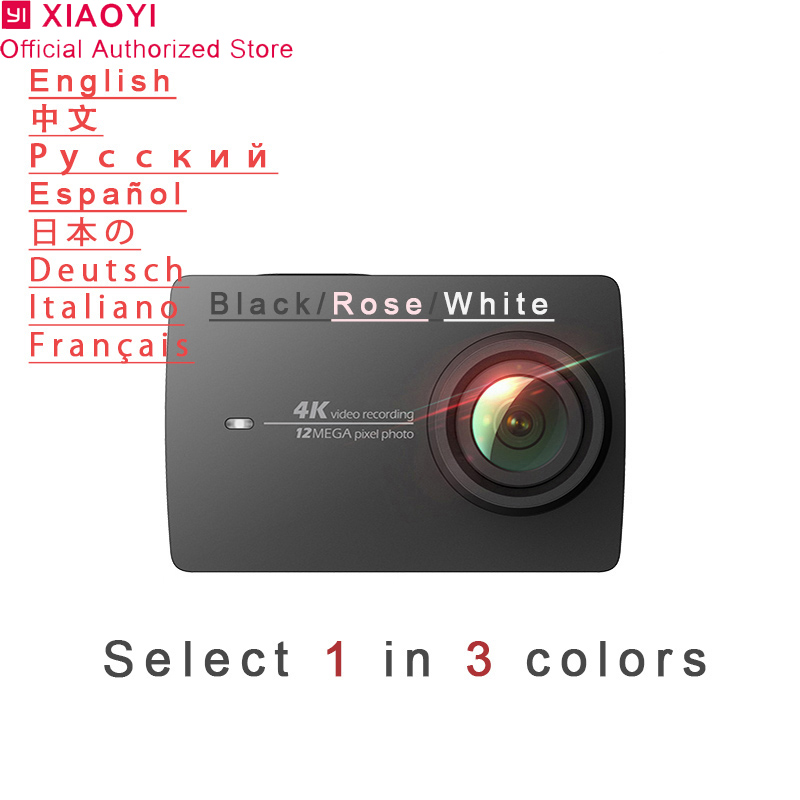 Xiaomi Yi 4 karat Action Kamera Sport Mini Cam Outdoor Kamera Bildschirm Wifi Bluetooth Weitwinkel Objektiv Touchscreen Camaras TF Slo
