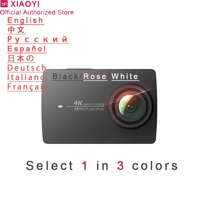 Xiaomi yi 4k câmera de ação esporte mini cam ao ar livre kamera tela wifi bluetooth lente grande angular tela toque camaras tf slo