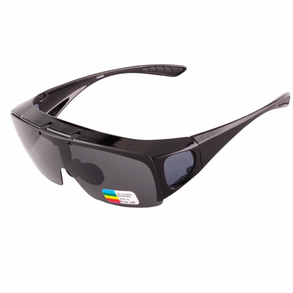 2018 NEMOKAMAS PARDAVIMAS Šiuolaikiniai UNISEX akiniai nuo saulės poliarizuoti stiklai, kurie pritaiko virš akinių UV400 objektyvo dangteliai