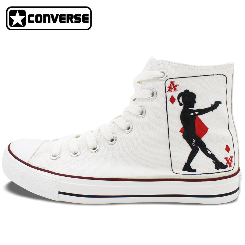 1778e3092c1294 ... canada high top white all star converse shoes poker joker custom design  hand painted canvas sneaker