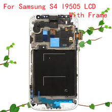 Dark Blue or White New LCD Display with Touch Screen Digitizer Replacement + Frame Assembly for Samsung Galaxy S4 I9505 GT-I9505