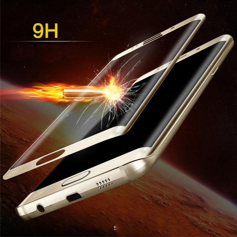 db61dc42b7e La 3d curvo de cristal templado para samsung galaxy s6edge s6 edge g925 9 h  película protectora frontal protector de pantalla de protección ...