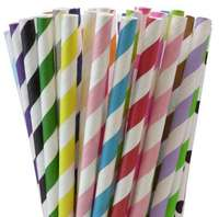 11000pcs Paper Drinking Straws-Pick Your Color Party Paper Straws for Wedding Party Decoration Supply Striped Chevron Dot Design