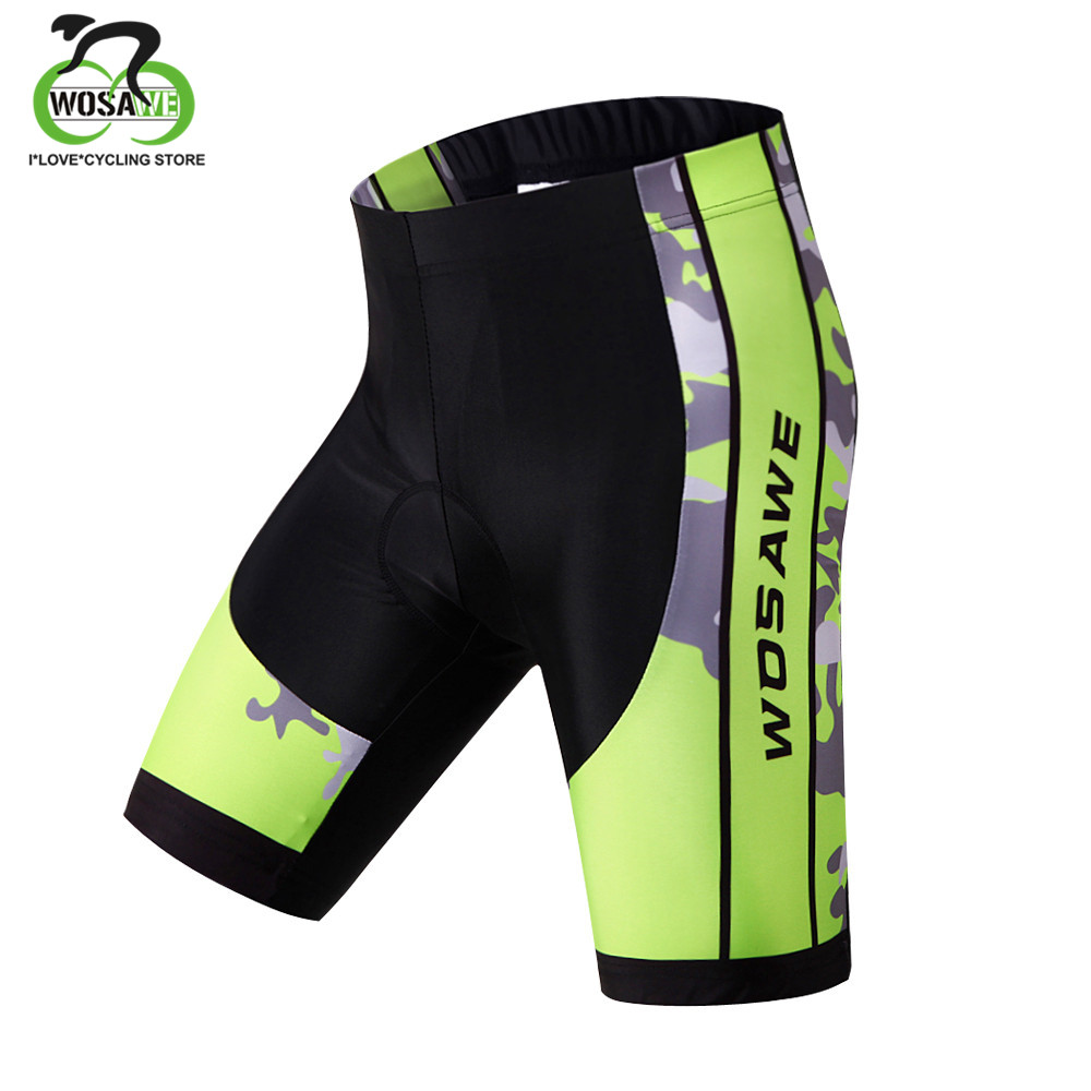 WOSAWE Men's Shorts Downhill MTB Shorts With Padded Gel 3D Underwear Cycling Bicycle Bike Summer Shorts Racing Breathable