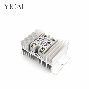 цена на Single Phase Solid State Relay SSR Regulator Base Plate Aluminum M-type Heat Sink Dissipation Radiator Rail Mount For 40A-100A