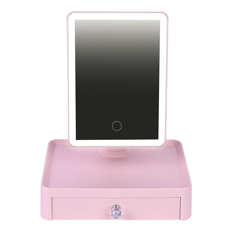 Led Light Standing Mirror Makeup Portable Desktop Vanity Mirrors With Lights Cosmetic Make Up Mirror With Lamp Cosmetic Tools цена