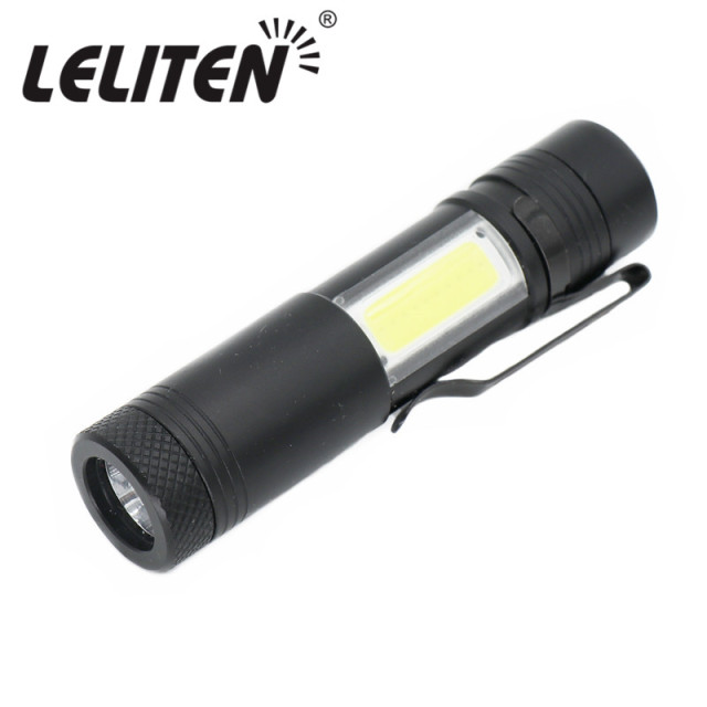 2000LM Aluminum Portable mini Led Flashlight XML-R5+COB Torch Penholder Torches Night walking lighting Use AA