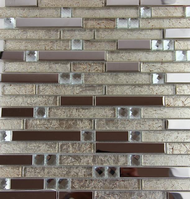 Neue Edelstahl Metall Glasmosaik Fliesen Küche Backsplash Badezimmer Dusche  Hintergrund Dekorative Tapete Fliesen