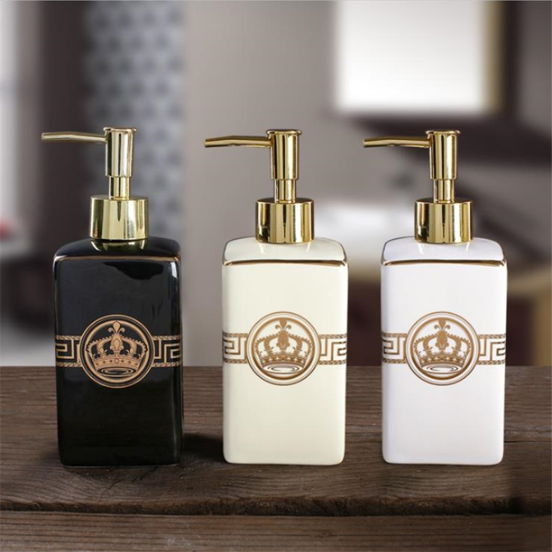 1pc European-style High-grade Hand Soap Dispenser Black And White Beige Star Hotel Club Bathroom Toiletries