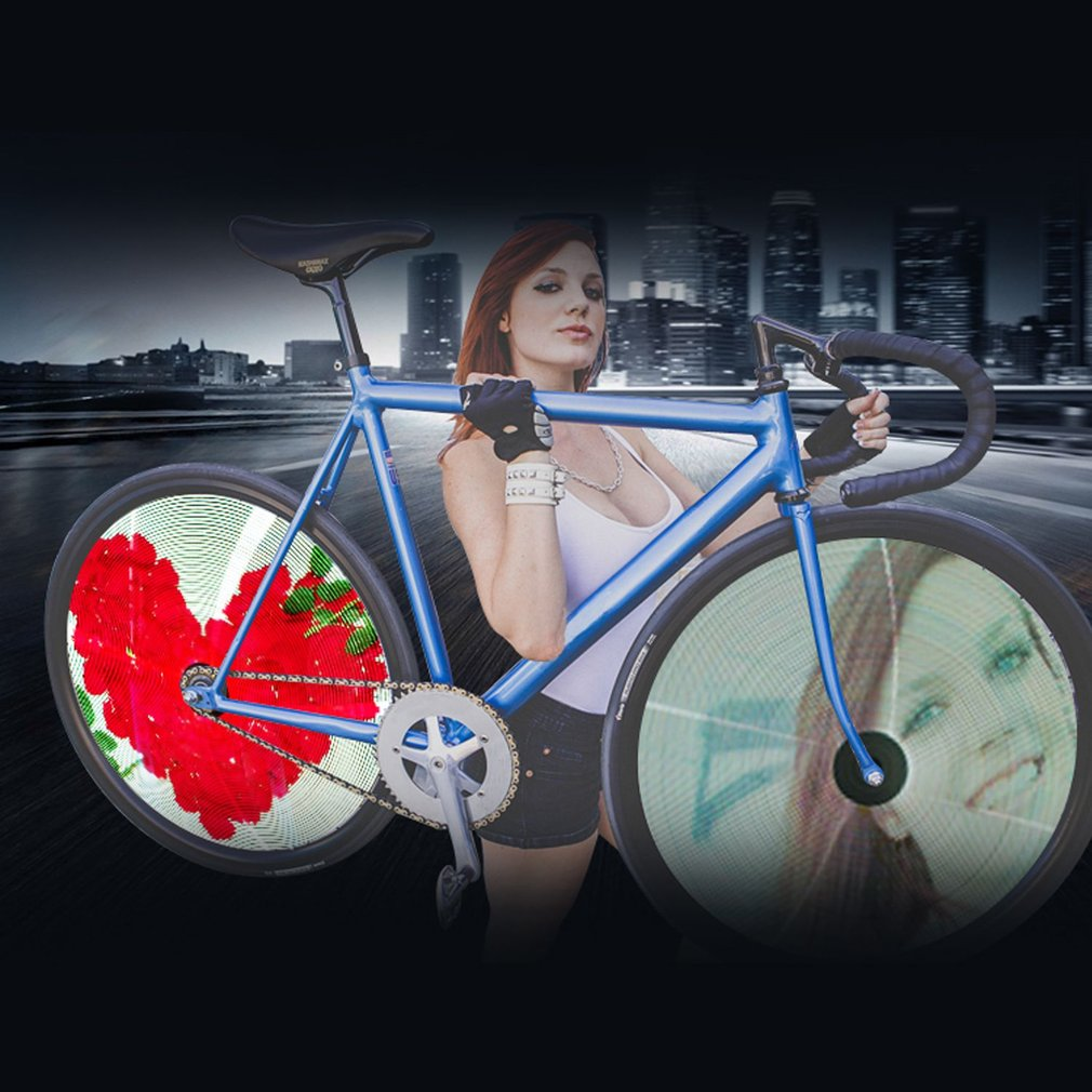Full-color LED GIF Photo Spokes Light Bicycle Wheel Light For Night Riding Double Side Display Bike DIY Patterns Rim Light mp620 mp622 mp625 projector color wheel mp620 mp622 mp625