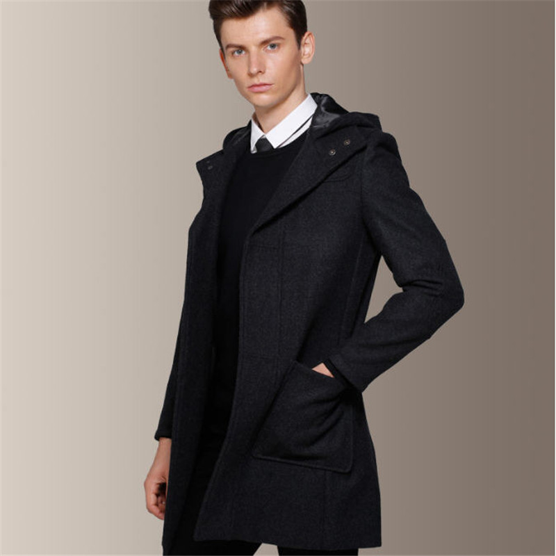 Mens Slim Fit Pea Coats