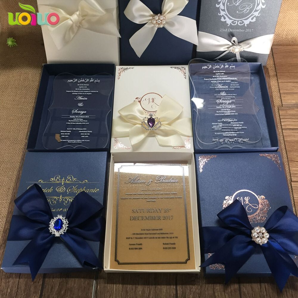 New Elegant Blank Wedding Invitation Box Wholesale Price Invitation Card Box Design Wedding Card Boxes Aliexpress
