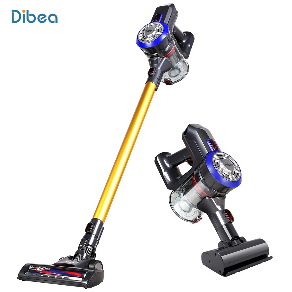 Dibea D18 Handheld Cordless Vacuum Cleaner 2 In 1 Cyclone Filter 120W 8500Pa Strong Suction Dust Collector Household Aspirator high quality cyclone filter dust collector wood working for vacuums dust extractor separator cnc machine construction