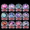12 Box Set Colorful Round 3sizes Sequins Beauty Nail Art Glitter Decoration 3D Nail Design Manicure