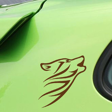 10.5*15.2CM 10 Colors Animal Stroke Car Sticker Wolf Tribal Vinyl Graphic Car Body Stickers Personality Car Styling Decal animal футболка animal graphic p05 12