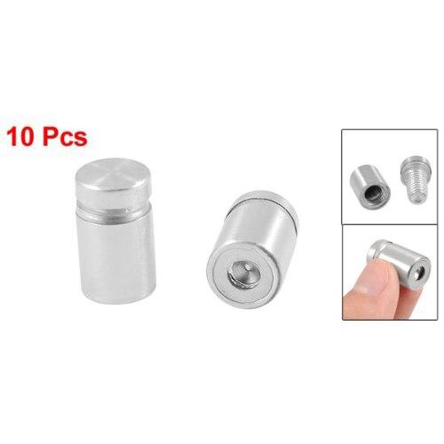 10x New 10 Pcs 12mm x 20mm Advertisement Nails Barrel ScrGlass Standoff Pins 10pcs lot 25 80mm 25mm stainless steel acrylic advertisement fixing screws glass standoff pin nails