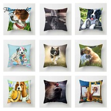 Fuwatacchi Cute Cartoon Animals Cushion Cover Poppy Dogs kitty Wolf Throw Pillow Decorative Sofa Pillowcase