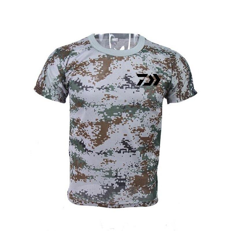 4 cor ao ar livre pesca roupas de camuflagem de manga curta secagem rapida wicking respiravel