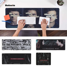 Babaite Hot Sales 13 Reasons Why Durable Rubber Mouse Mat Pad Free Shipping Large Keyboards