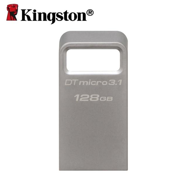 Kingston usb 3.1 micro pen drive 16 gb 32 gb 64 gb 128 gb de memoria clave Mini Disco de Memoria USB 3.0 Flash Drives con Carcasa Metálica