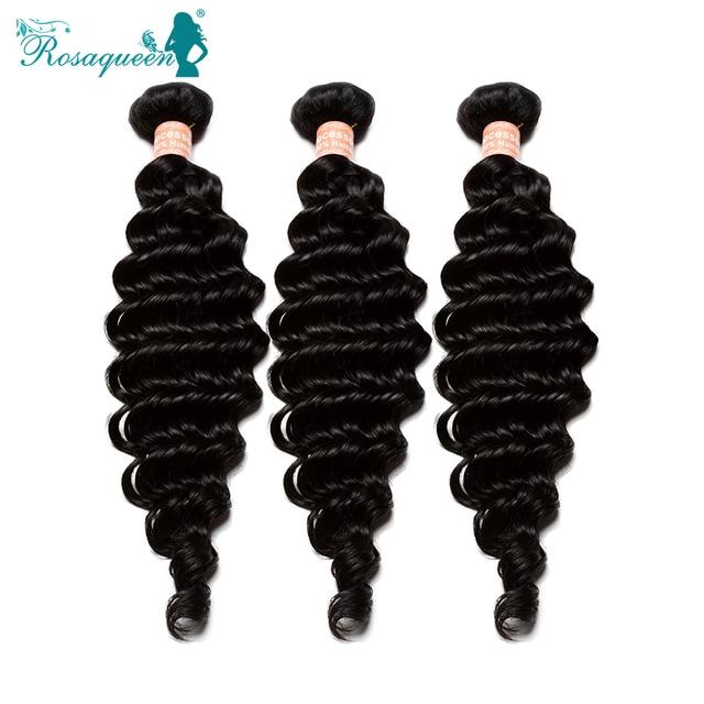 6A Rosa Hair Products Mongolian Virgin Hair Deep Wave Hair Extensions Mongolian Deep Curly Human Hair Weave Bundles 3Pcs Lot