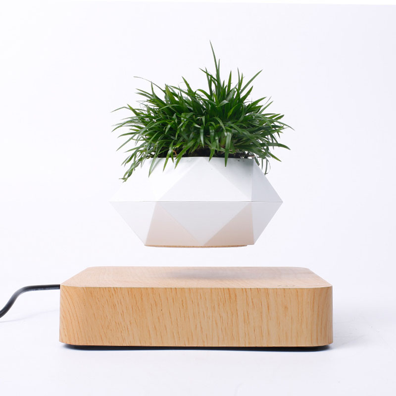 Levitating Bonsai <font><b>Pot</b></font> <font><b>Flower</b></font> <font><b>Pot</b></font> Creative Geometry Planter <font><b>Magnetic</b></font> Levitation Flowerpot Succulent <font><b>Pot</b></font> Potted Plant Home Decor image