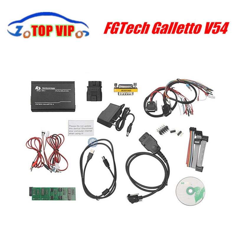 Цена за Высокое качество полный чип FGTech Galletto V54 мастер версия FG Tech V54 Чип ECU Инструмент настройки разблокирована добавить БД BDM Функция