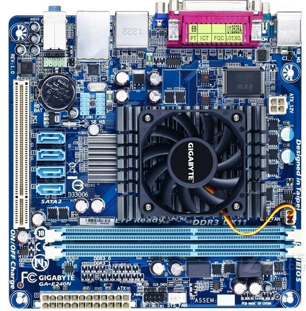 Gigabyte CPU MINI-ITX SATA2 DDR3 Integrated Dual-Core for GA-E240N Cpu/Ddr3/Sata2/Usb2.0