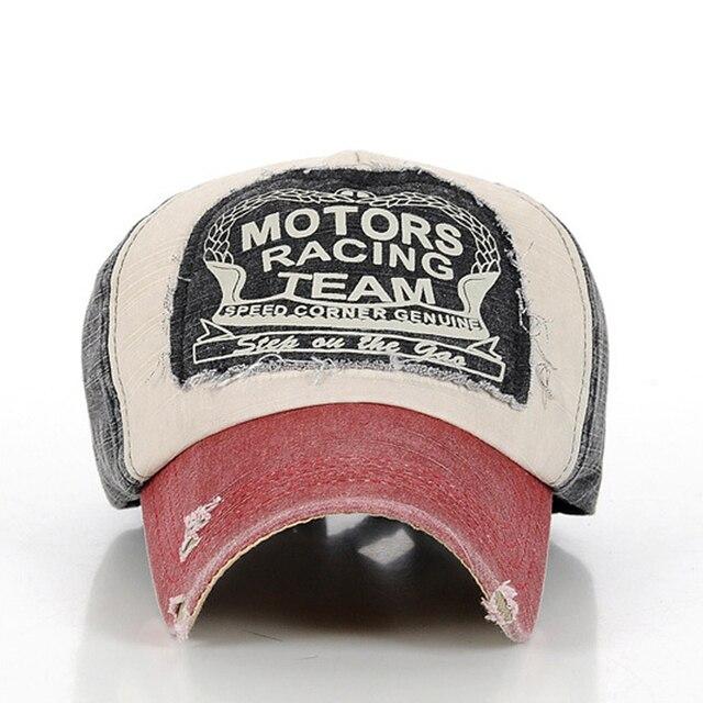 b857384e4fd Motors Racing Team Cotton baseball snapback hats caps sports hip hop ...