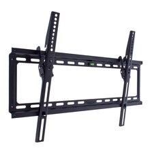 ТВ Кронштейн Kromax IDEAL-2 new black (Настенный, наклонный, сталь, диагональ экрана 32-90 дюймов, расстояние от стены 2.3 см, угол наклона 0-10°, макс.нагрузка 55 кг)