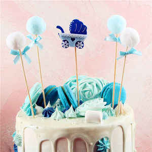 Image 2 - ベビーシャワーのケーキトッパーイスラム教徒ベーキング少年少女洗礼ブルー 1st 誕生日パーティーの装飾イベントパーティーの diy インテリア