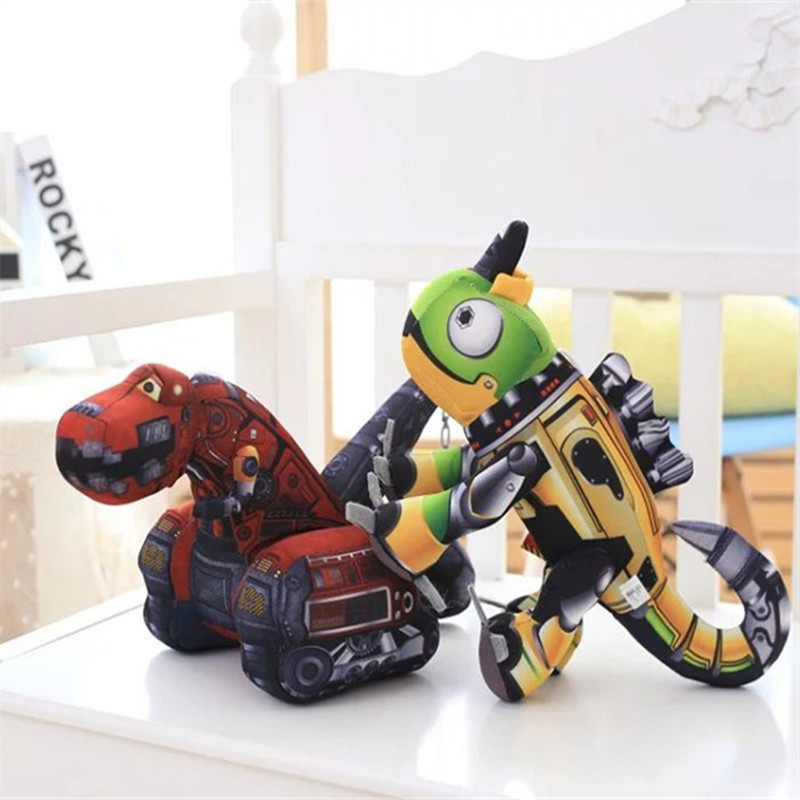 30CM One Piece Creative Robot And Tractor PP Cotton Stuffed Toy High Quality Super Soft Cartoon Simulation Plush Toys 2 Style