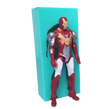 Luyou 3D Iron Man Cake Silicone Mold DIY Chocolate Candy Molds Baby Birthday Party Fondant Cake Decorating Tools FM1713