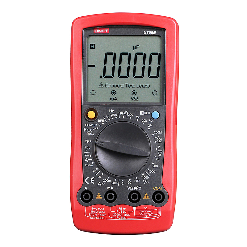 UT58E Digital Multimeter Ammeter Ohm Volt Meter Capacitance Temperature Digital Universal Meter LCD Count 1999 AVO Meter UNI-T auto digital multimeter 6000counts backlight ac dc ammeter voltmeter transform ohm frequency capacitance temperature meter xj23